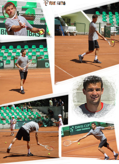 Grigor Dimitrov in Sofia for the Davis Cup