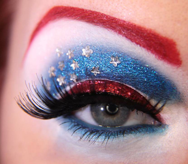 laughingsquid:  Avengers-Inspired Eye Makeup Designs  These are bad-ass!!