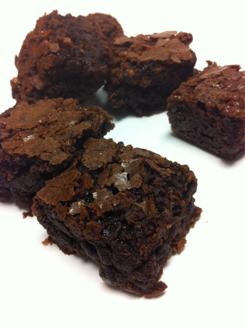 Homemade chewy chocolate brownies. Best recipe ever via Cooks Illustrated