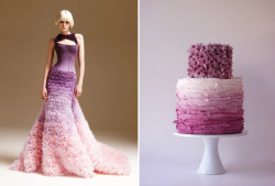 ombre wedding trends, lilac edition