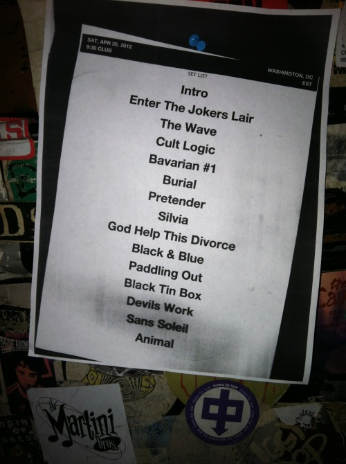 930club:  SETLIST: Miike Snow 4.28.12  I WAS THERE!!!!
