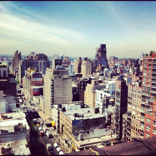Great view of NYC from the conference room. (Taken with Instagram at Dailymotion Offices)