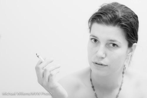 mvwphoto:  Portrait in High Key with cigarette (4/2012)