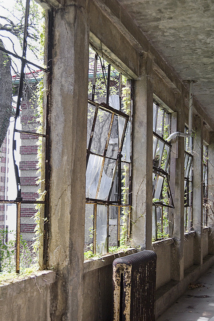 dedicatedtodecay:  Ellis Island Isolation Hospital 2012. by porc3laind0ll on Flickr.