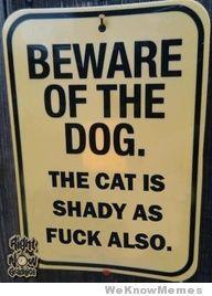 I just need a dog and this sign would be applicable, lol.
