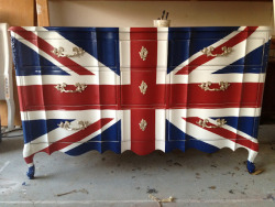 Union Jack Dresser from Linde Browning Design?  Yes, please!!!! http://nonsensesensibility.com/blog/2012/04/linde-browning-design/