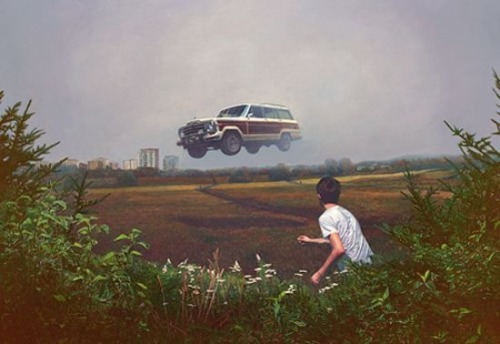 jeep-wagoneers:  Flying Jeep Wagoneer.