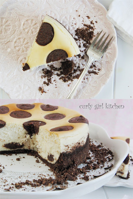Nutella Polka Dot Cheesecake click image for recipe