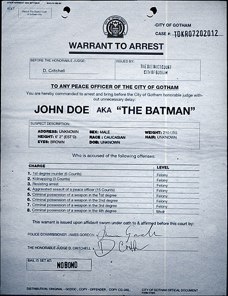 THE DARK KNIGHT RISES: Viral Campaign Police Report
