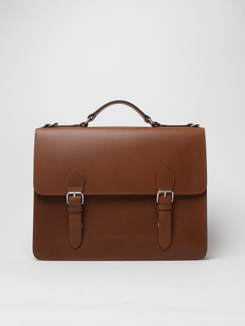 A.P.C. MEN'S LEATHER SATCHEL
