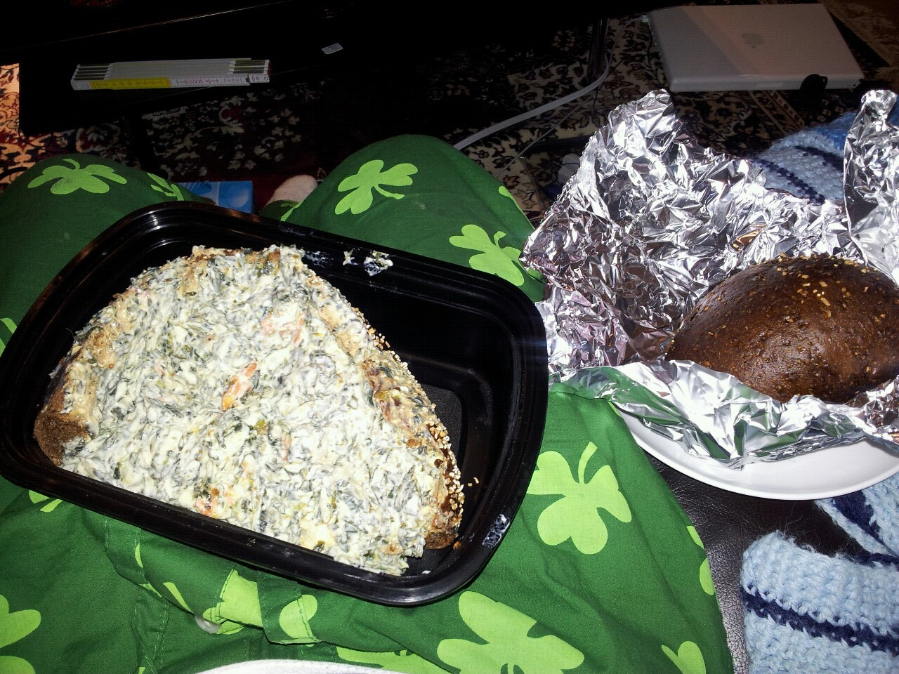 I'm eating leftover spinach dip with pumpernickel and I've watched half a season of Gilmore Girls.  How late is the government office where I can turn in my Dude Card open until?