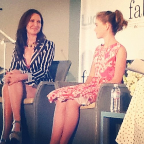 Loving the @MadMen interview with @janiebryant #luckyfabb (Taken with instagram)