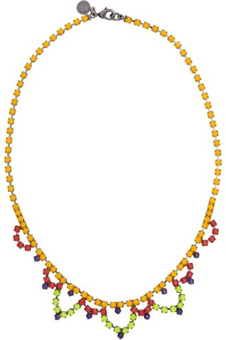 evachen212:  Tom Binns strikes again: another perfect summer necklace. imagine it with a little white tank or breezy sundress. (yes, I'm basically justifying the purchase)  I would definitely wear that