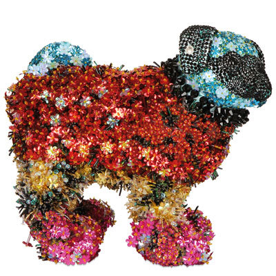 Mary Katrantzou's floral explosion of a pug for Pug Dogs for Happy Kids
