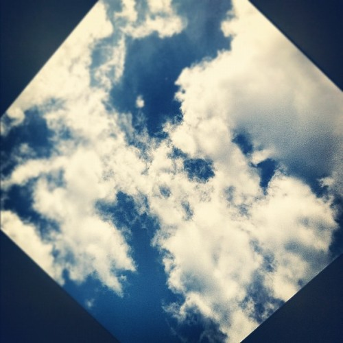 A #different #view of the #sky through a #hole in the #ceiling. #clouds #pretty #nature #fun  (Taken with instagram)
