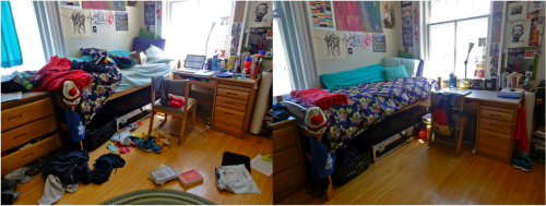 back-to-the-old-me:  Totally just cleaned my side of the dorm in like 10 minutes. I think that's a world record or something.