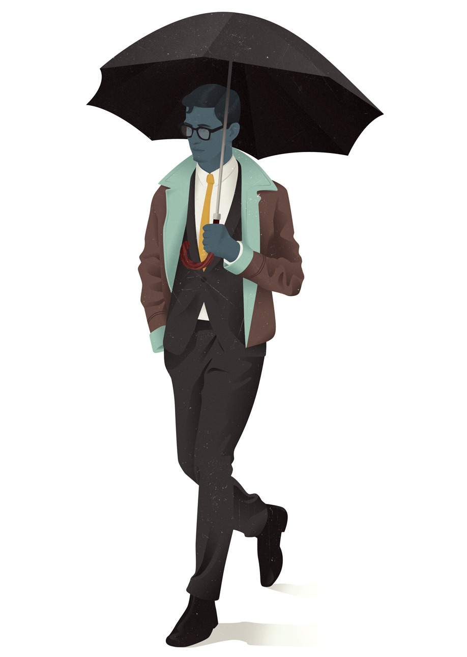 Umbrella Man // The Gentleman's Guide to Cocktails   Haters gonna hate.
