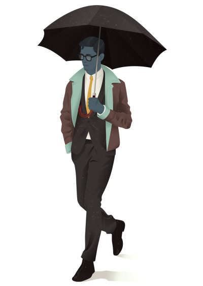 jackmrhughes:  Umbrella Man // The Gentleman's Guide to Cocktails   Haters gonna hate.