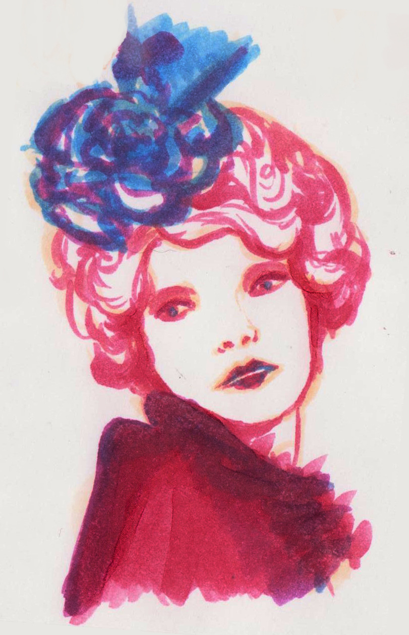 Effie trinket, I got bored so I decided to try using my copic markers again without getting frustrated after 2 minutes. I got frustrated after 3 minutes this time..They just won't listen to me hahaha.*If anyone can tell me where to find HQ Effie Trinket photos.. that'd be appreciated. I feel like drawing her soon :)