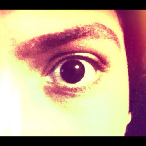 Eye… #eye #eyebrow #expression #hello #photo #face (Taken with instagram)