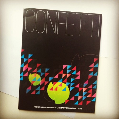 It came! It's here! woo #zine #confetti #litmag #fspa2012 (Taken with instagram)