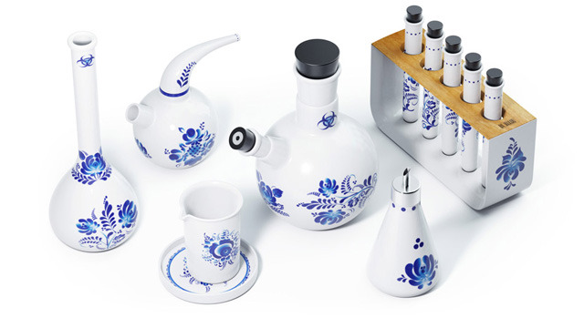 Chemicus, A Ceramic Tea Service Set That is Inspired by Chemistry Kits