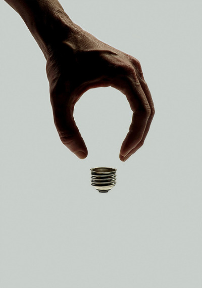 brockdavis:  Art for Wired on Flickr. invisible bulb