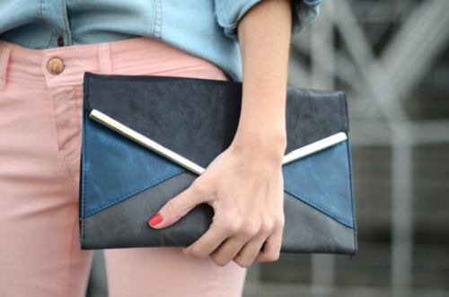 Love clutches and pink pants !