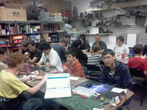 One of the rooms at my prerelease.