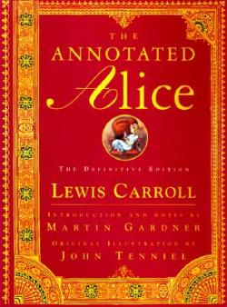 The Annotated Alice, Lewis Carroll (F, 20s, blue sparkly nails, big pink tote bag, motorcycle boots, 6 train) http://bit.ly/KmXF6R