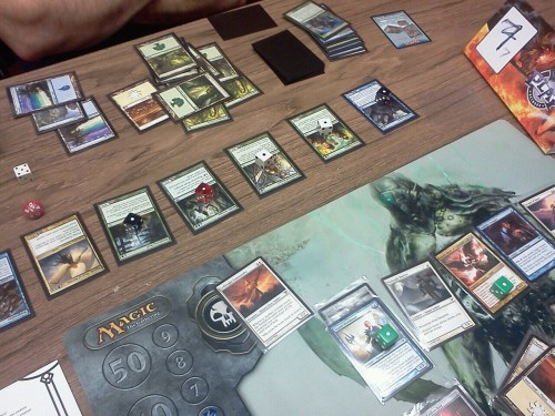 Epic angel vs angel battle at my prerelease! Gisela won.