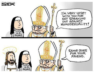 LGBTQ* Religion and Political Cartoons  You are the company you keep.