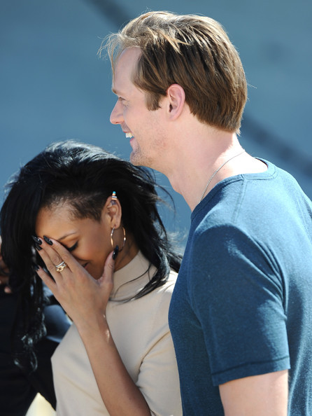 "Another star Alexander had fun with is Rihanna, who he joins for several scenes in her feature film debut, ""Battleship,"" which hits theaters on May 18. ""She's pretty amazing,"" he said. But the actor noted that he wasn't surprised by how easily Rihanna took to acting. ""I was honestly not surprised. Just like, watching her on stage, or her videos, you can tell [from] her energy and her charisma and personality, you know that she's gonna be great in that part,"" he said. ""I knew that and she really is.""  You know what this means? It means he totally got down to the Rude Boy video."