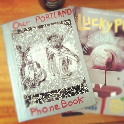nikkianneportlandoregon:  #portlandphonebook #art #crafts #makeyourownshit (Taken with instagram)  You should put a bird on it!