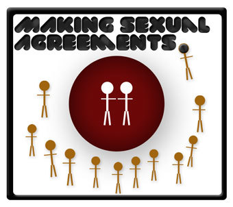 Making a sexual agreement with your primary partner is crucial to keeping your relationship happy, trusting, and safe. A relationship agreement can be any number of conditions or limitations that you and your partner equally agree on about having sex within and outside of your relationship. Don't worry, it doesn't have to fit one particular model. Each agreement is different—the important part is that you agree honestly about what fits your relationship, that you protect each other by playing safe, and that you admit when you've broken the pact, so that you can take precautions, get tested, and stay safe—together. learn more…
