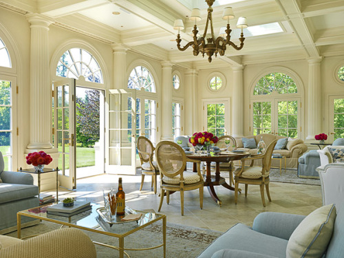 georgianadesign:  Sunroom/pavillion photographed by Richard Mandelkorn.