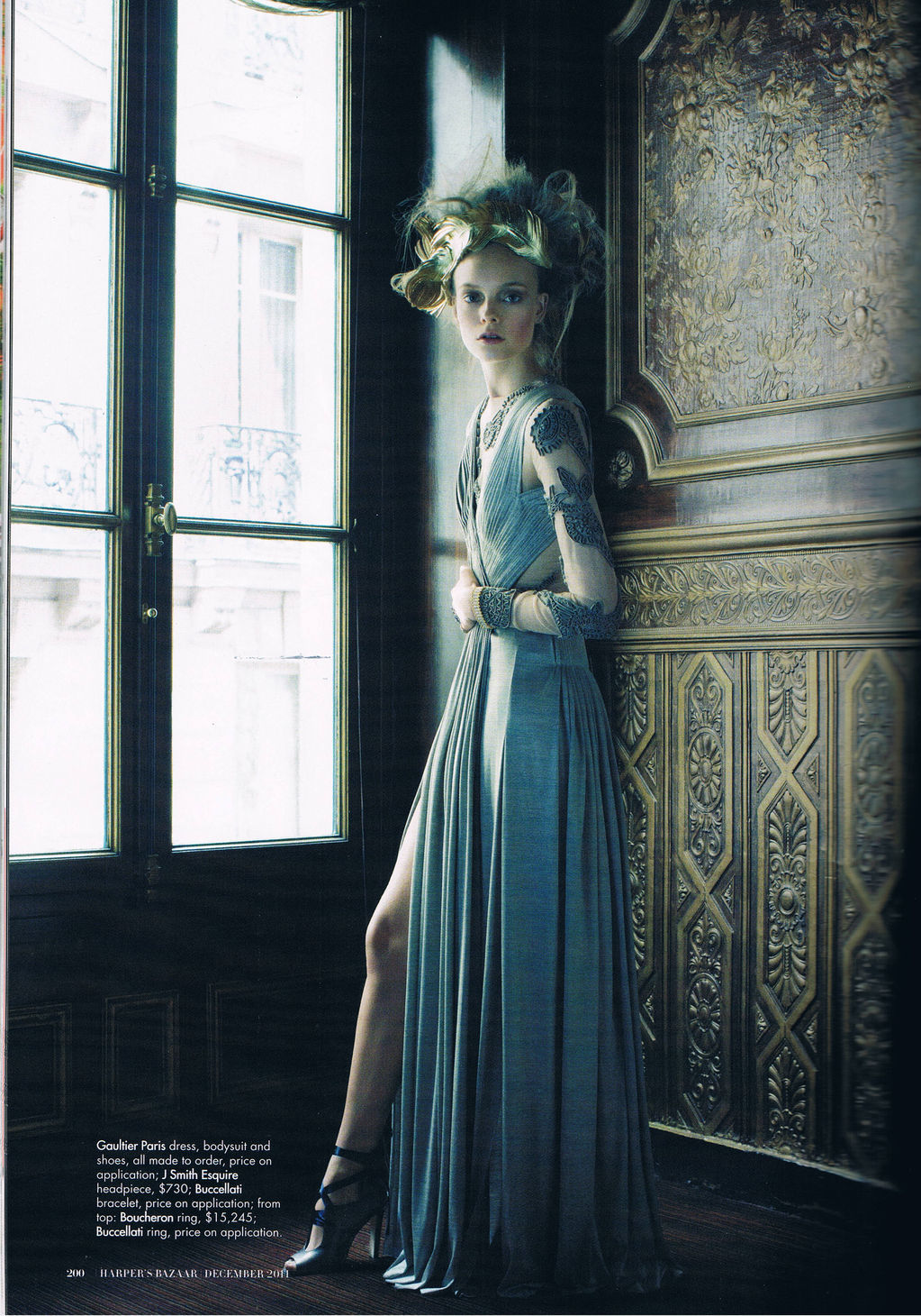 "Model: Nimue Smit | Photographer: Victor Demarchelier - ""Lady of the House"" for Harper's Bazaar Australia, December 2011 