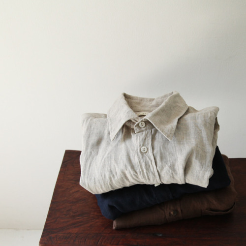 clothesolivelikes:  Linit Regular Collar Basic Shirts