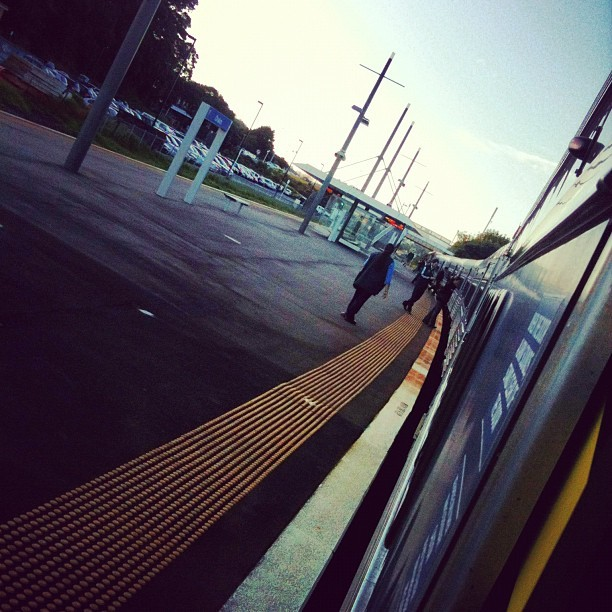 Uni. Day 23. Get on the train. #train #auckland #people #morning #uni (Taken with instagram)