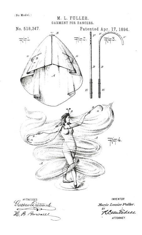 Loïe Fuller's patented performance equipment