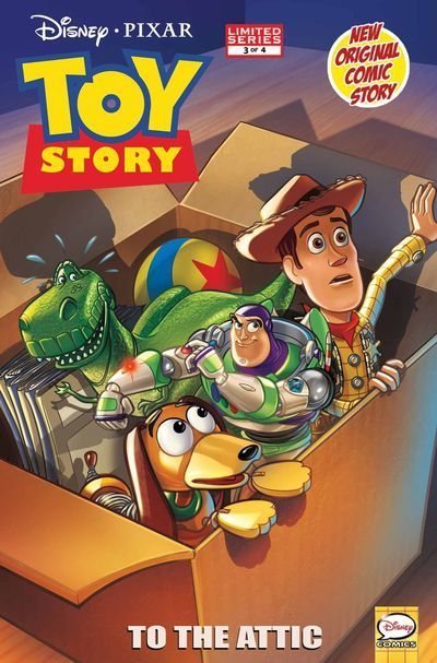 Market Monday Toy Story #3, written by Tea Orsi  New adventures featuring Woody, Buzz Lightyear and the rest of the gang! 'To the Attic!' - Woody, Buzz, Rex and Slink explore new territory when they accidentally get put in the attic for storage! An unexpected new friend could be their only hope for getting back to Andy's room!