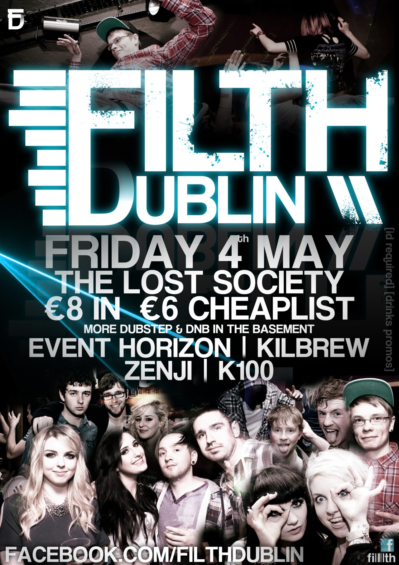 The poster for Filth Dublin on May 4th in the Lost Society. Was just thinking today about how great it's been for us to be involved, with all the artistic opportunities and ridiculously talented people we've met, and that shit is only getting started. Keep an eye out for some subtle changes to the filth graphics after this one, I think the management have a new direction in mind :) In the mean time check out the event page for cheaplist and the Filth Dublin Facebook for original tunes and mixes by the resident DJs, including our good friend K100 who just put out a new track (free for download too). Dillon