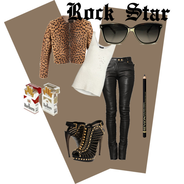 Rock Star by cassialuizass featuring scoop neck tops