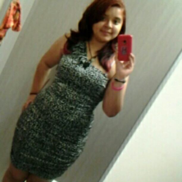 What do you guys think?? #me #dress #tryingon #shopping #ask  (Taken with instagram)