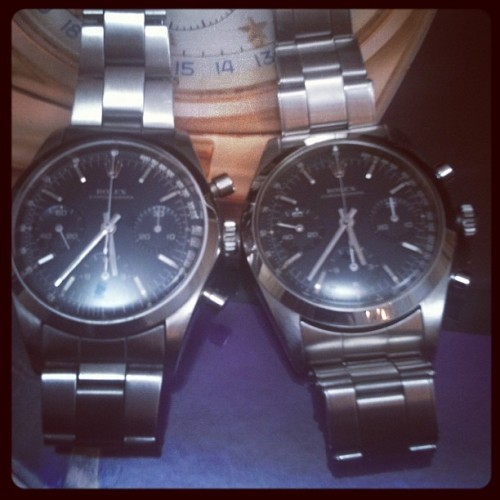 Rolex 6238 twins #collectors #watches #watchoftheday #horology #vintage #rolex #daytona #rolexdaytona #christies (Pris avec instagram)