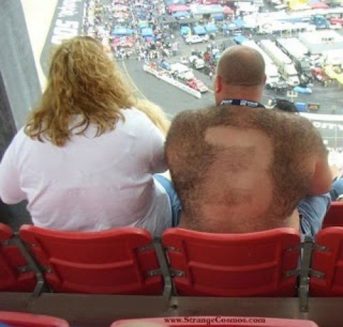 NASCAR Fan has Number Shaved into Back Hair