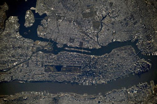 timelightbox:  Exclusive for TIME from NASA: The view of New York from the International Space Station evolved today, as the new World Trade tower became the tallest building in the city. See more here.