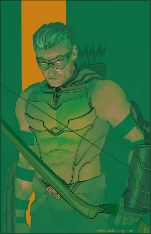 dcplanet:  Green Arrow Art by Michael Stribling DeviantART / Website