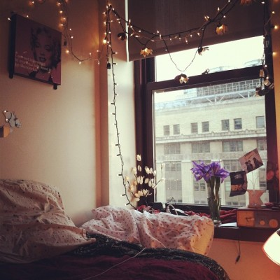 laceypinup:  I will miss how cute my lil lights are and the view when i leave (Taken with instagram)