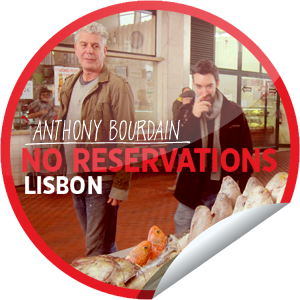 Check-in to No Reservations on Get Glue during tonight's Lisbon episode premiere to unlock this limited time sticker.